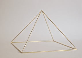 Brass Meditation Pyramid by Healing Energy Tools