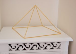 Gold 24k Meditation Pyramid by Healing Energy Tools