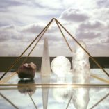 Gold 24 Plated Meditation Pyramid by Healing Energy Tools