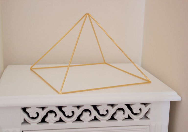 Gold 24k Plated Mediation Pyramid by Healing Energy Tools