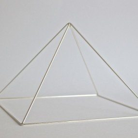Silver Meditation Pyramid by Healing Energy Tools