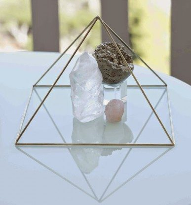 Cleanse and Energize Crystals with a Pyramid