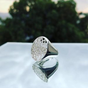 Metatrons Merkaba Ring Sterling Silver