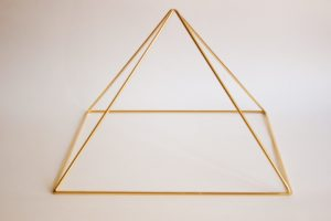 Gold 24k plated Meditation Pyramid