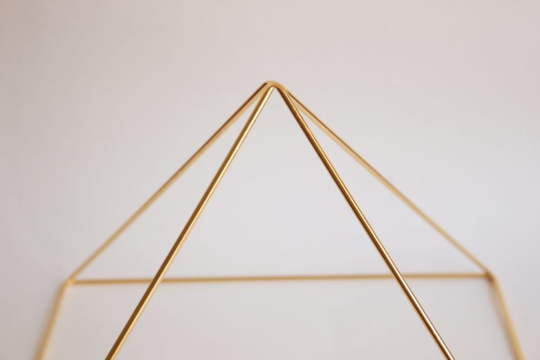 Gold 24k plated Meditation Pyramid by Healing Energy Tools