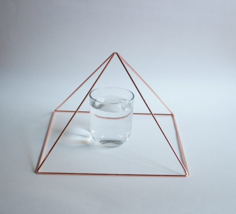 Copper Pyramid - Meditation Pyramid by Healing Energy Tools