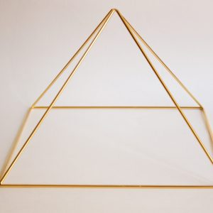 Gold 24K Meditation Pyramid