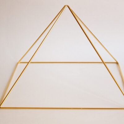 Gold 24k Plated Meditation Pyramid by Healing Energy Toos