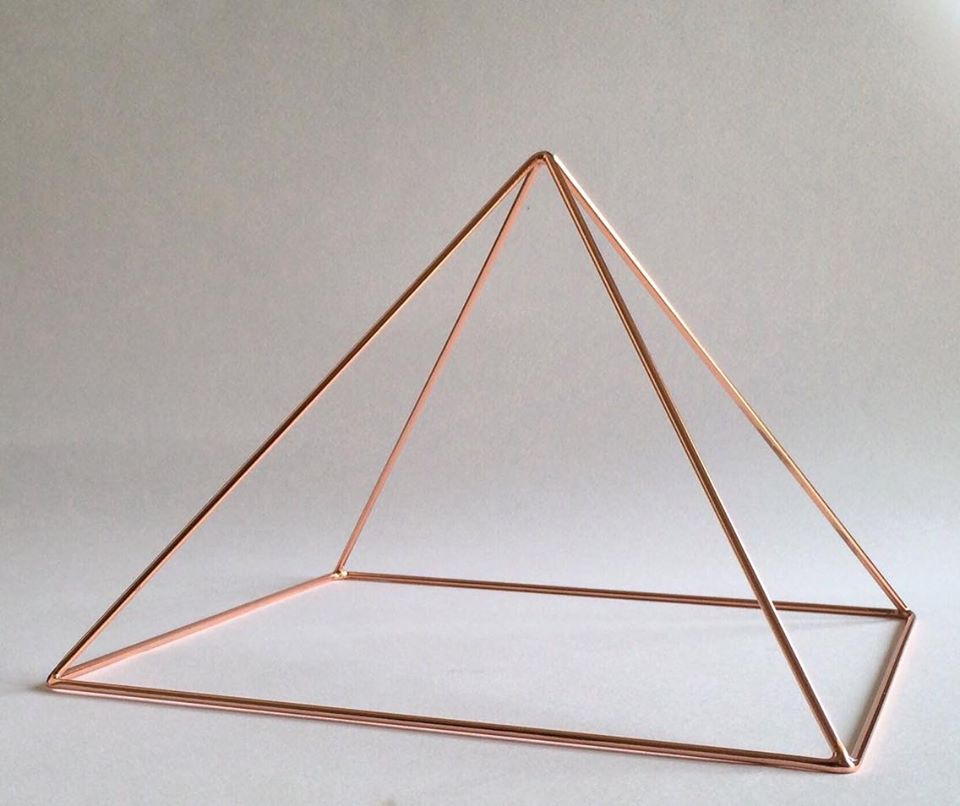 Copper Meditation Pyramid