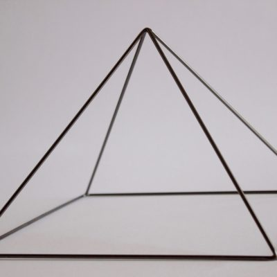 Black Chrome Meditation Pyramid