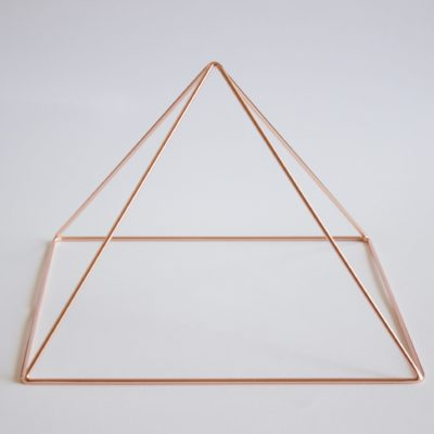 Rose Gold Meditation Pyramid