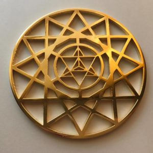 Metatron's MerKaBa Gold 24K Plated Tool