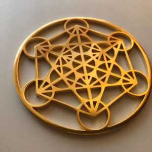Metatrons Cube Gold 24K Plated Tool