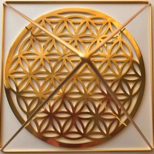The Flower of Life Gold 24K Plated Altar Size