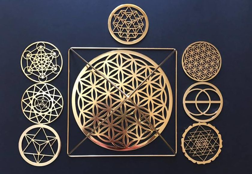 sacred geometry altar healing energy tools