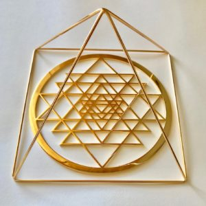 Sri Yantra Altar Tool Gold 24k Plated
