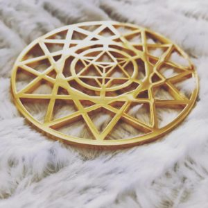 Metatrons MerKaBa Gold 24K Plated Tool
