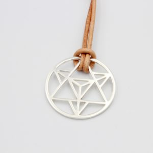 Merkaba Necklace Sterling Silver