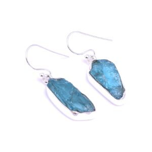 Raw Sky Apatite Earrings Sterling Silver 925